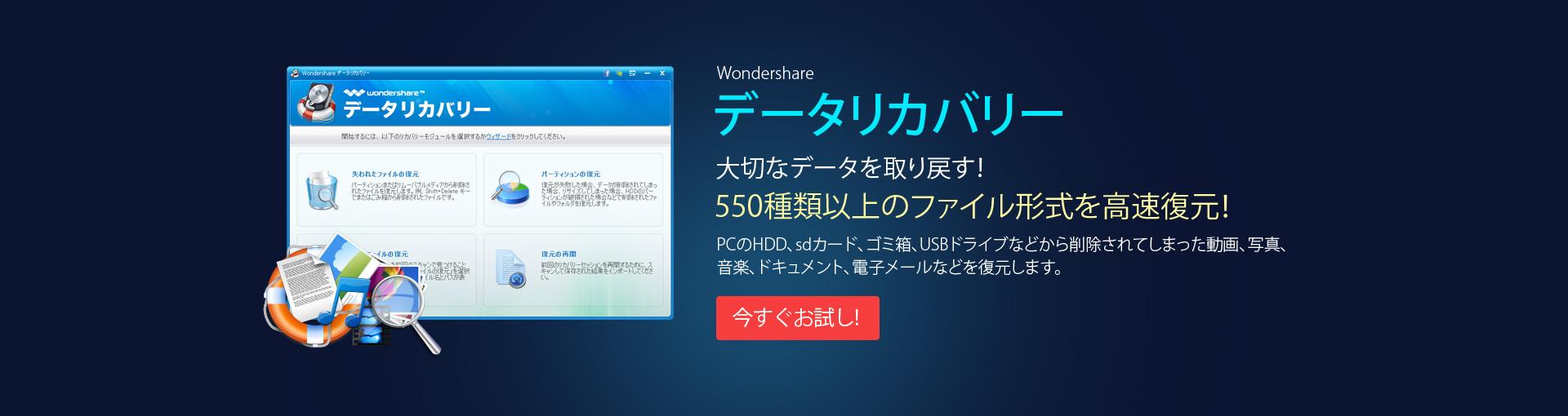 データリカバリー (Windows版)