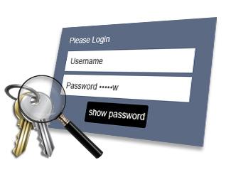 パスワード/キーを検索&再設定
