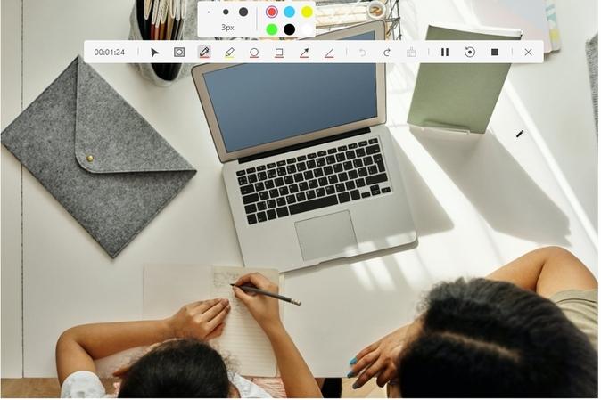 Chrome録画時にリアルタイム描画