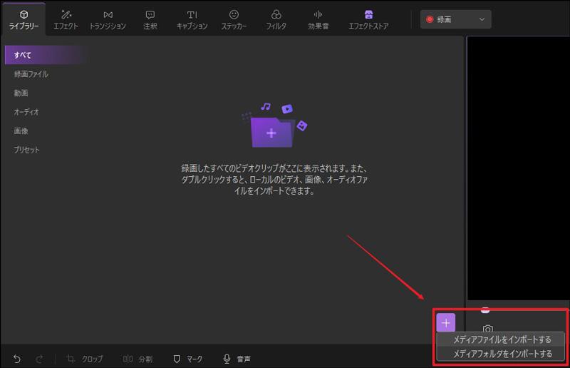 動画のインポート