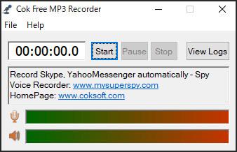 音声録音ソフト-CokFree MP3 Recorder