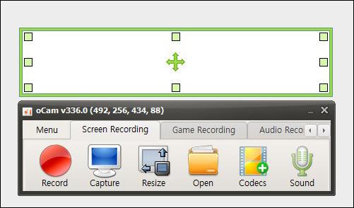 長時間録画するソフト oCam Mac版