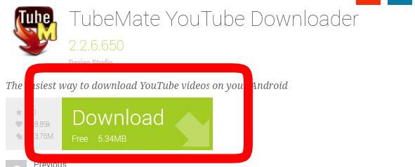 YOutubeダウンロードアプリTubeMate YouTube Downloader