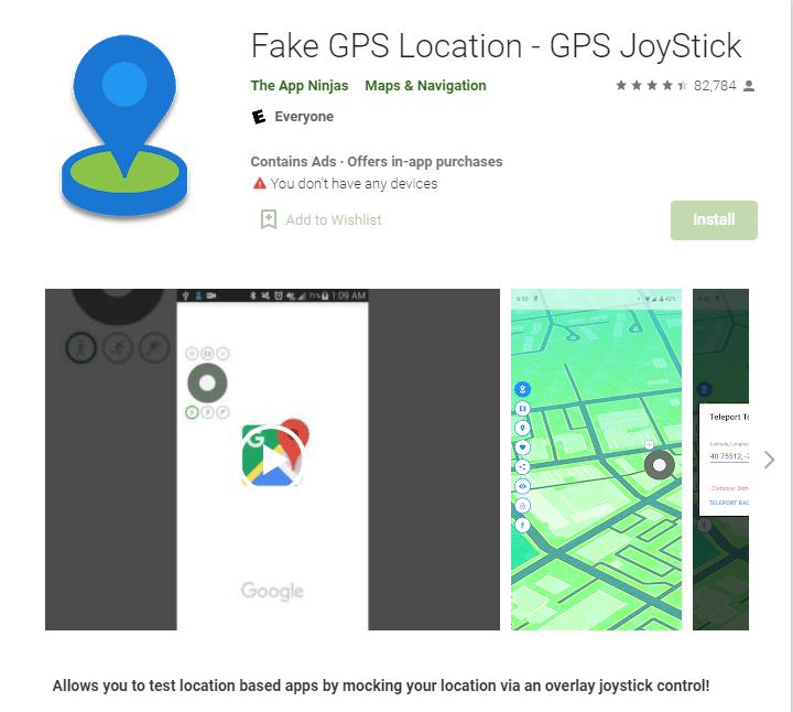 「GPS JoyStick Fake GPS Location」