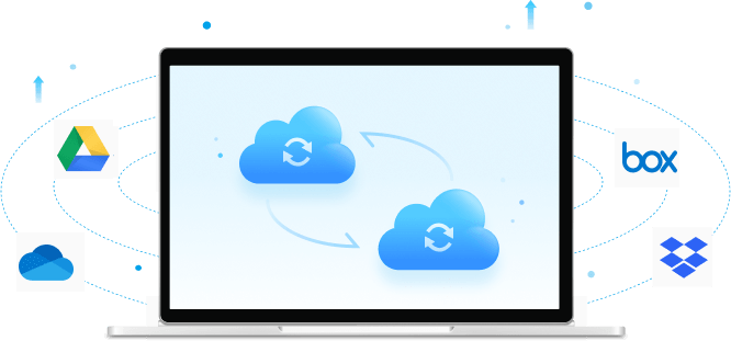 sync data between different clouds