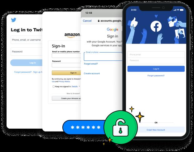 アプリやウェブサイトのログインパスワードを復元