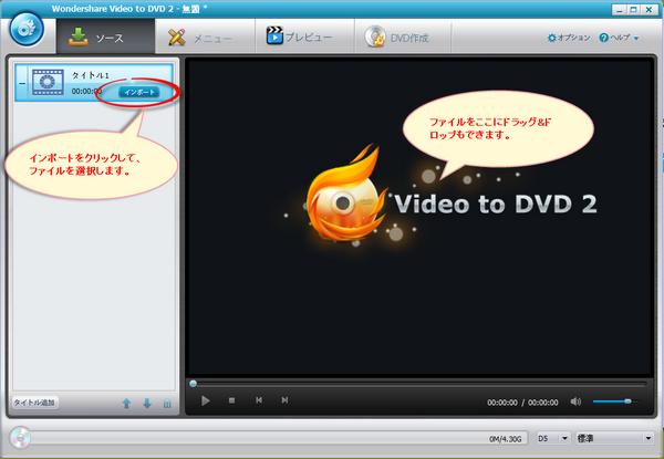 orbit動画をDVDに焼く