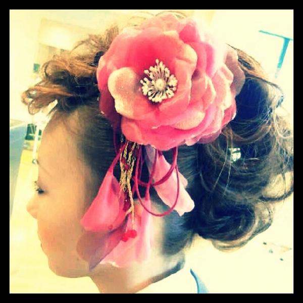 成人式での女性の髪形