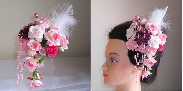 成人式での女性の髪飾り