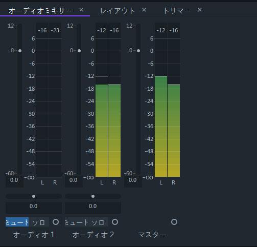 オーディオミキサーパネル