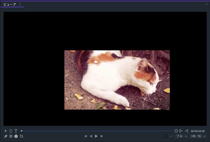 FilmoraPro クロップの効果サンプル