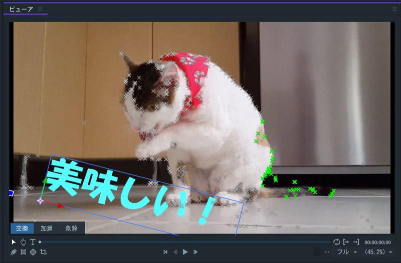 FilmoraPro モーショントラック設定