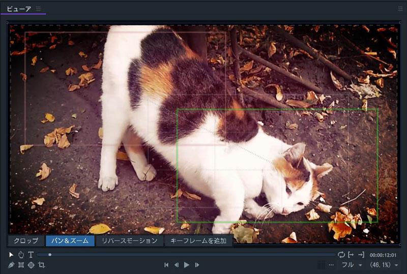 FilmoraPro パン&ズーム