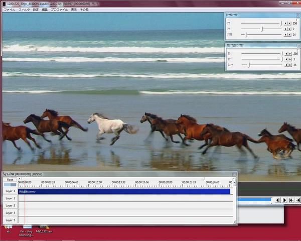 Aviutl でFLVファイルを編集