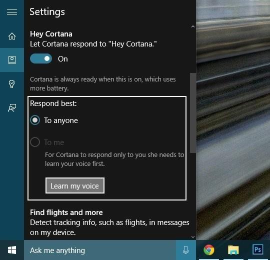 Cortana 情報を手に入れる