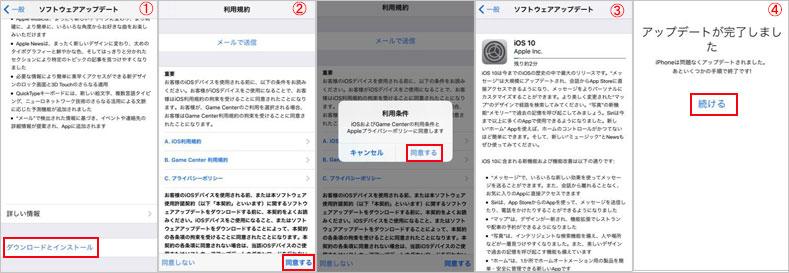 iOS 10アップデート