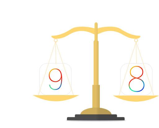 iOS9 vs iOS8