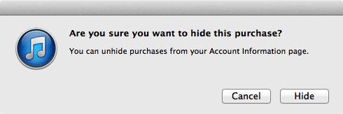 ipadから消去したアプリの購入履歴を隠します