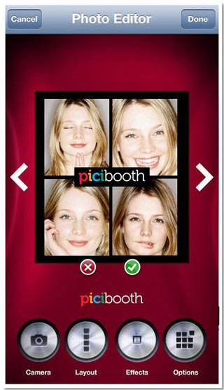 iPhone 6のPhoto booth機能