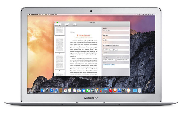 PDF Attributes for Mac