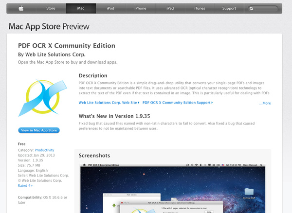PDF OCR X Community Edition for Mac