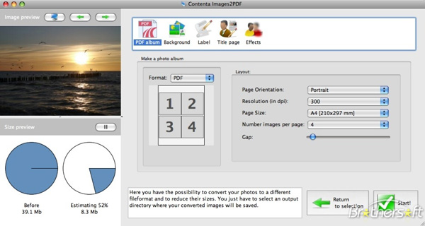 Images 2 PDF for Mac