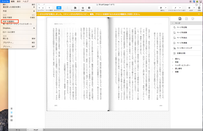 PDFファイルをドラッグ&ドロップして読み込む