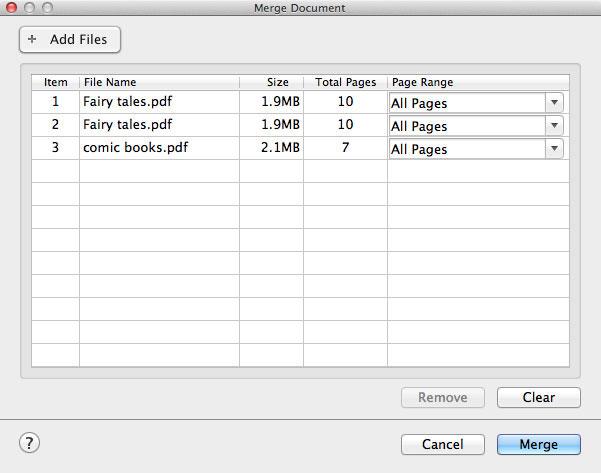 Mac OS X やWindows 7でPDFファイルを統合する方法