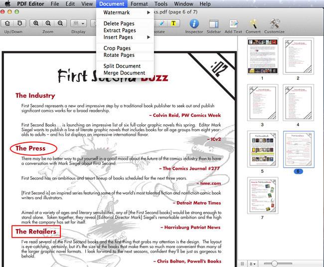 join PDF files in Mac