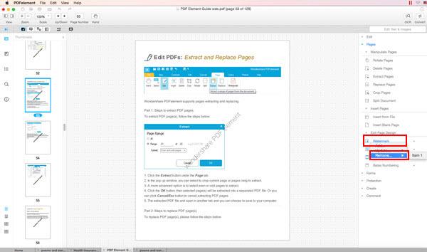 Mac OS X Mountain LionとWindows 8でPDFの透かしを削除する方法