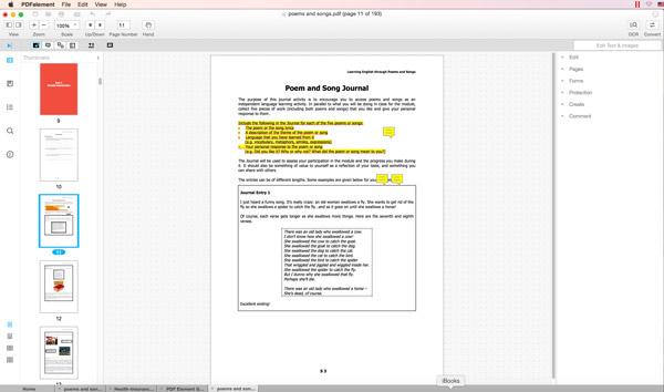 PDF in Mac 注釈