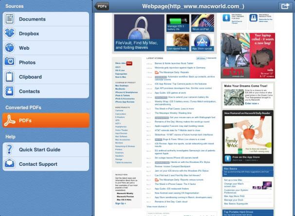 iPadでウェブページをPDFに変換する方法