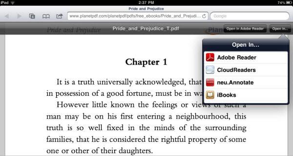 iPadでのPDFファイル保存方法