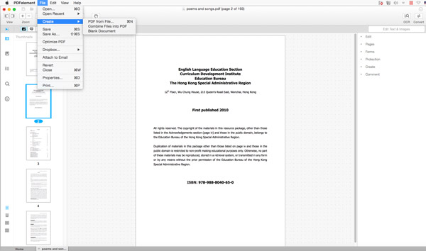 Mac OS X Snowに無料でPDFを作成する方法