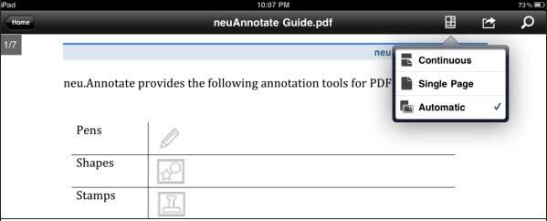 iPad用Adobe ReaderでPDFファイルを閲覧する方法