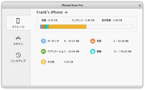 PhoneClean(Mac版)の特徴