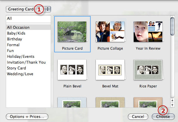 iphoto card