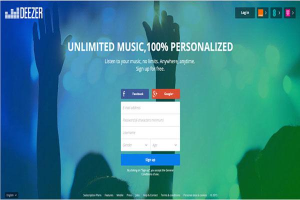 Deezer Musicダウンロード支援ソフトをダウンロード
