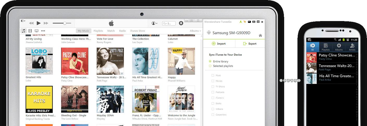 iTunes とAndroidの同期