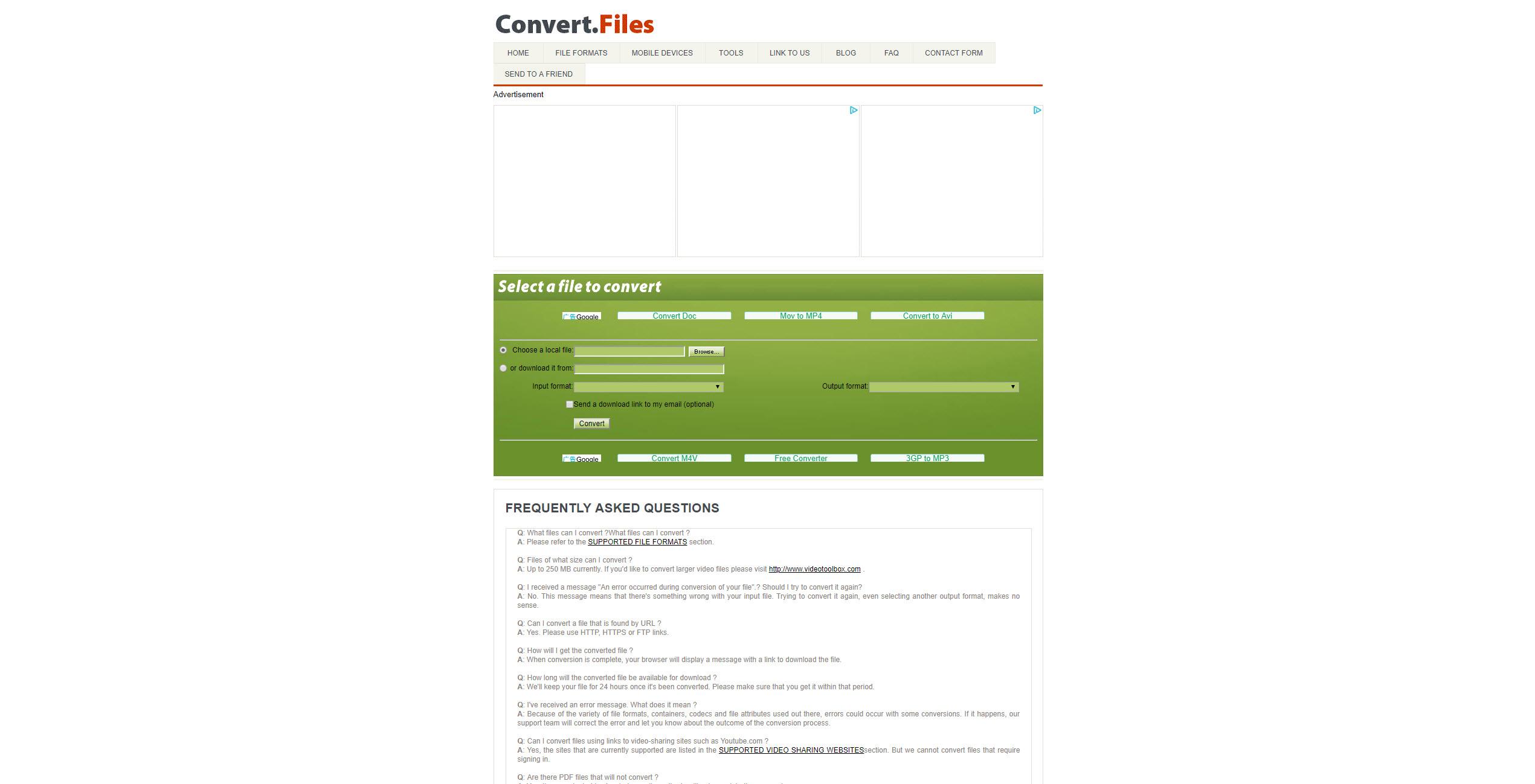 mp4をmp3に変換できる無料サイト:Convert.File