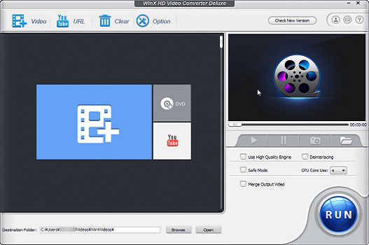 動画変換ソフト5:WinX HD Video Converter
