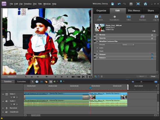 有料動画編集ソフト Adobe Premiere Elements