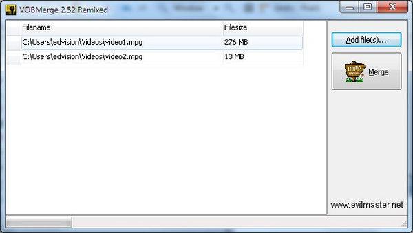 vobファイル結合
