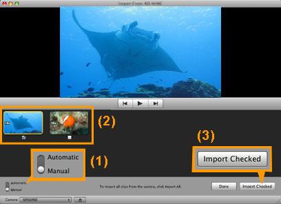 ビデオをiMovieにインポート