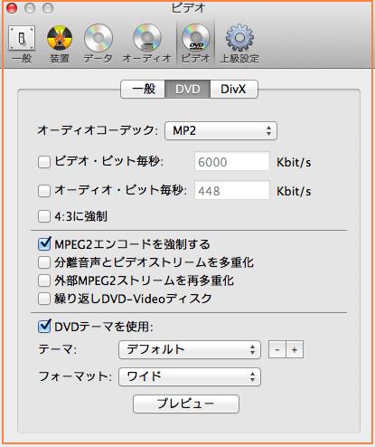 Burn DVD焼く