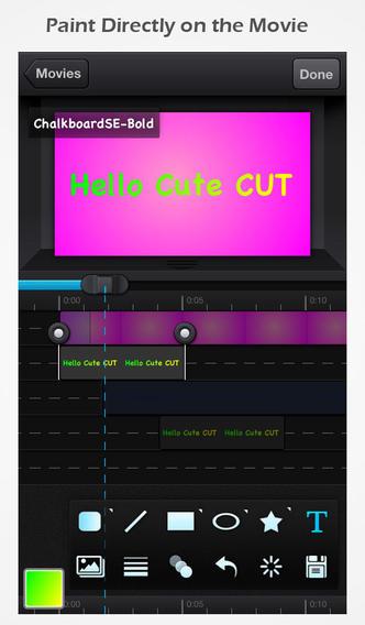 動画に音楽を入れるアプリ Cute CUT
