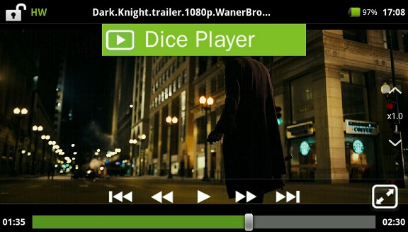 Android動画再生速度DicePlayer