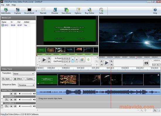 動画トリミングソフト Videopad