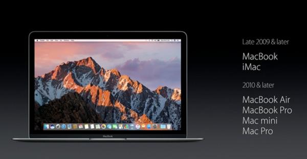 macOS Sierraの対応機種