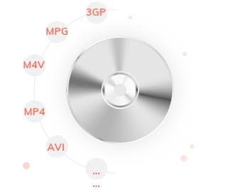 多様な入力動画形式をDVDに変換